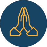 Icon of hands in prayer